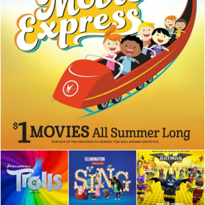 Regal Theaters are showing fun children's movies all summer long. The list ranges from recent releases from this year, Sing, to movies shown years prior, Happy Feet Two. Photo courtesy: fun4raleighkids.com