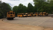 At Leesville, and other schools in Wake County, cameras will be installed in buses to monitor student behavior. By June, every bus should have a camera system installed. (Photo courtesy of Erin Darnell.)