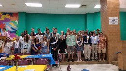 Pictured above are the new Spring Inductees. With over 40 new thespians, ITS has a wide aray students with many different skill sets for theatre.