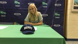 Tyler Mae Stempien poses for a picture before she signs her official papers. Teammates, friends and family were all there to support her. (Photo Courtesy of Cayley Kennedy)