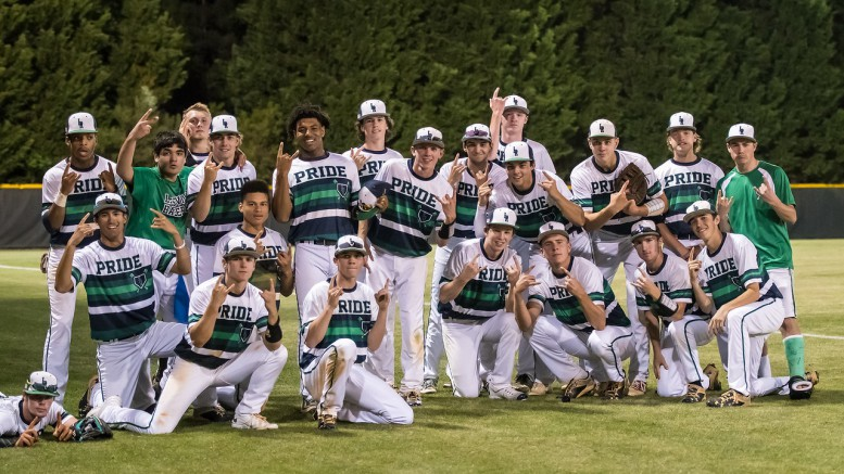 The Pride celebrate their Cap-8 championship after defeating Wakefield 4-1. They will now host Pine Forest tonight in the first round of the 4A state playoffs. (Photo Used by Permission of Bob Stewart)