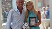 Leesville's Rachel Golden, senior, has had great success as a member of the women's soccer team, starting for the team for four years. A UNC-Asheville soccer commit, Golden was recently chosen to play in honorary games such as the Clash of Carolina's and the North Carolina East-West All-Star game. (Photo courtesy of Paul Dinkenor Twitter)
