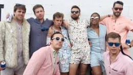"""A band of fellows rocking their """"RompHims"""". The various styles and sizes offered by the startup give potential customers a thousand reasons to buy, according to the Kickstarter page. (photo courtesy of Travel and Leisure)"""