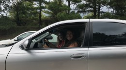 Jenna Woods and Skylar Hesla preparing to drive home from school in the student parking lot. The two, like others, are excited for their first year driving to Leesville. (Photo used by permission of McKenna Daley)