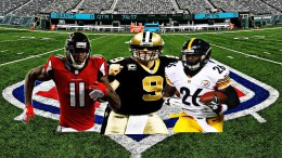 The 2017 NFL Season is underway, and players (from left to right) Julio Jones, Drew Brees and Le'Veon Bell are ready to compete. The 32 teams in the NFL will be fighting for 12 playoff spots over the 17 week long season. (Photo courtesy of Matt Wiener)