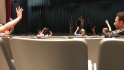 Students of Leesville join in the auditorium to hear about the Make-A-Wish Club. The Make-A-Wish Club holds an interest meeting every year for new and returning members to draw attention to the club. (Photo courtesy of Kaitlyn Stocum)