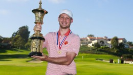 Doc Redman, a Leesville graduate, celebrates his win at the 2017 U.S Amateur Championship. During his high school career, Redman won the 2016 NCHSAA 4A State Golf title and was named to the All-State team all four years. (Photo used by permission of Tim Bourret)