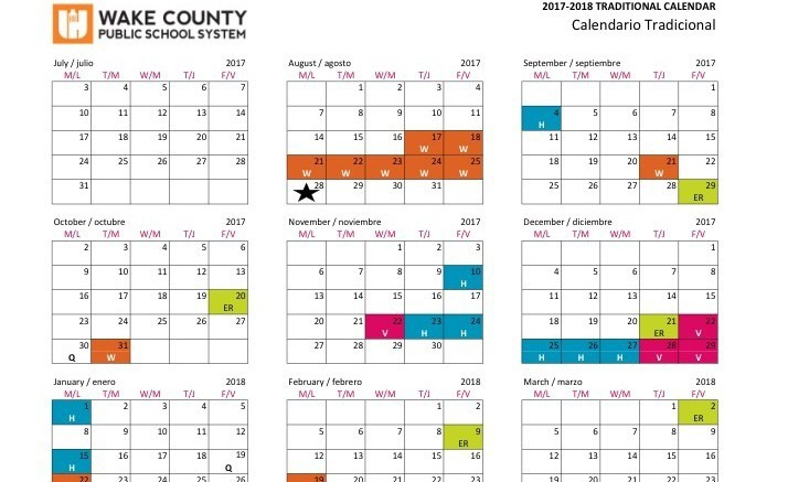 Wake County schools have five days of work built into the calendar this year. Teachers plan to use all of these to the fullest. (Photo courtesy of Wake County Public School System's website)