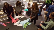 Established as one of the first international clubs, Key Club provides a means for students to come together to serve their local community. Here, Leesville students are making dog toys out of donated shirts for the local pet shelter. (Photo used by permission of Tushar Varma).