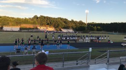 The JV football team watches and supports their team from the sidelines. Follow @LRHSnews on Twitter for updates about the rest of the season for the team. (Photo courtesy of Natalie Gore)