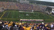 East Carolina fans file into Dowdy-Ficklen Stadium before kickoff against the Virginia Tech Hokies on September 16, 2017. The Pirates lost the game 64-17. (Photo courtesy of Matt Wiener)