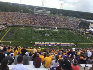 My First ECU Football Game