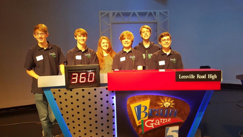 After competing against Edgecombe Early College and Cape Fear Christian, the 2016-2017 LRHS Brain Game team beat Edgecombe Early College and tied with Cape Fear Christian. The Brain Game team meets every Monday in Room 241. (Photo used by permission of Amy Jones)