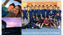 Mayra Sanftleben and Finnja Forthmann are both foreign exchange students for the 2017-2018 school year. They are from Hamburg, Germany and are looking forward to this upcoming year in America bettering their English and making relationships with those around them. (Photos used by permission of Mayra Sanftleben and Finnja Forthmann)