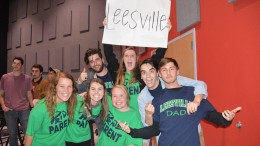 In the above image you can see the fun and energetic college students from North Carolina State University that Leesville is lucky to have as the area's Young Life leaders. Ashton Hepburn (top left), Lizzie Mann (top center),(from bottom left to right) Anna Boggs, Lauren Kinlaw, Carley Sedar, Zane Hamstead, and Hunter Simpson. (Photo used by permission of Leesville Young Life)