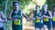 Leesville Road High sophomore Maximus Buico running in the cross country Cap 7 Championship. The Leesville cross country boys team placed third in the district wide competition. (Photo used by permission of Paul Buico)