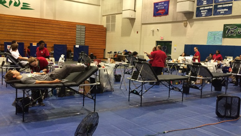Leesville's annual blood drive is right around the corner. Leesville athletic gym will soon be packed with people eager to donate. (Photo courtesy Kyla Stone-Houze)