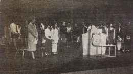 The March 1994 edition of The Mycenaean featured an article on the first-ever induction ceremony for the Leesville Road High School chapter of the National Honor Society.  The National Honor Society has been part of Leesville since its opening year, the 1993–1994 school year.  (Photo courtesy of The Mycenaean)