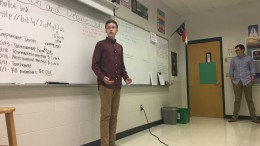 Typically, Speech and Debate meetings consist of small-scale debates. However, at this meeting, candidates for leadership positions preformed speeches before the club voted for officers. (Photo courtesy of Isabel Daumen)
