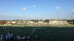On September 22, Leesville faced Cardinal Gibbons, in a not so close game. The game took place on Gibbons' newly renovated astroturf field.  (Photo courtesy of twitter user @leesvillefb)