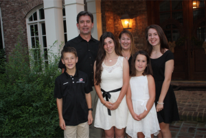Jeff Ammons, his wife, and four children pose for a family photo. Ammon's oldest daughter is a Leesville graduate, and his second oldest daughter is enrolled in the high school. (Photo Courtesy of Jeff Ammons).