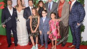 The entire main cast of Daddy's Home 2 poses for a picture. From left to right: Mel Gibson, Alessandra Ambrosio, Mark Wahlberg, Didi Costine, Linda Cardellini, Owen Vaccaro, Will Ferrell, Scarlett Estevez, John Lithgow, and John Cena. (Photo courtesy of Shutterstock)