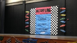 Members of the Student Government Association at Gray's Creek High School worked hard to decorate their school for the North Carolina Association of Student Councils Central District Conference on October 21, which students from Leesville attended.  The poster above provided a backdrop for the stage in the auditorium, where many of the day's events took place.  (Photo courtesy of Sydney Tucker)