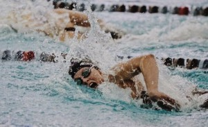 Grace Newton, junior, has been on the varsity team for three years and won states for 200 free-style relay.