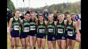 Cross Country is a fall sport that begins training mid-June. During the 2017-2018 season, the girls team qualified to run in states.  (Photo used by permission of  Jeff Sides)