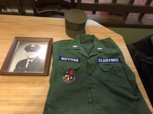 Next to Hoffman's picture lays the uniform he wore in Vietnam. (Photo courtesy of Matt Wiener).