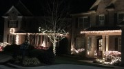 One common tradition around the holidays is hanging colorful lights on the outside of houses for decoration. Some neighborhoods hold competitions to see who has the best lighting displays. (Photo courtesy of Kaitlyn Stocum)