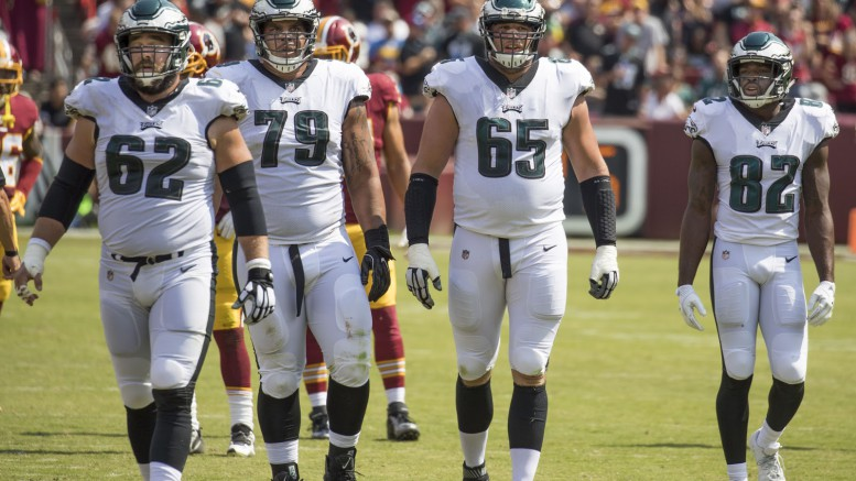 Members of the Philadelphia Eagles walk off the field during their first of two games against the Washington Redskins throughout this season. The Eagles were one of the best teams in the NFL in 2017 and many professionals speculate that they have a strong chance of winning the NFC, and possibly the Super Bowl as well. (Photo courtesy of Wikipedia Commons)