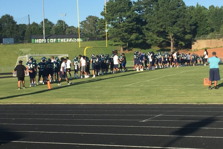 Leesville's JV football loses close game to Panther Creek