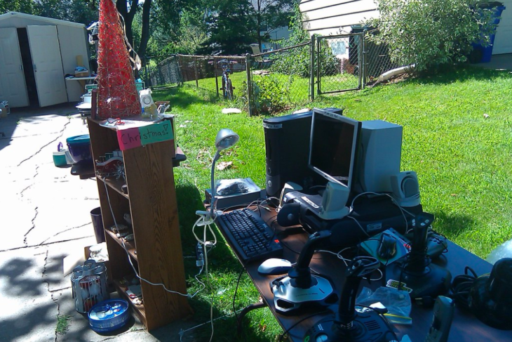 Local Boy Hosts Yard Sale, Says He's Given Up