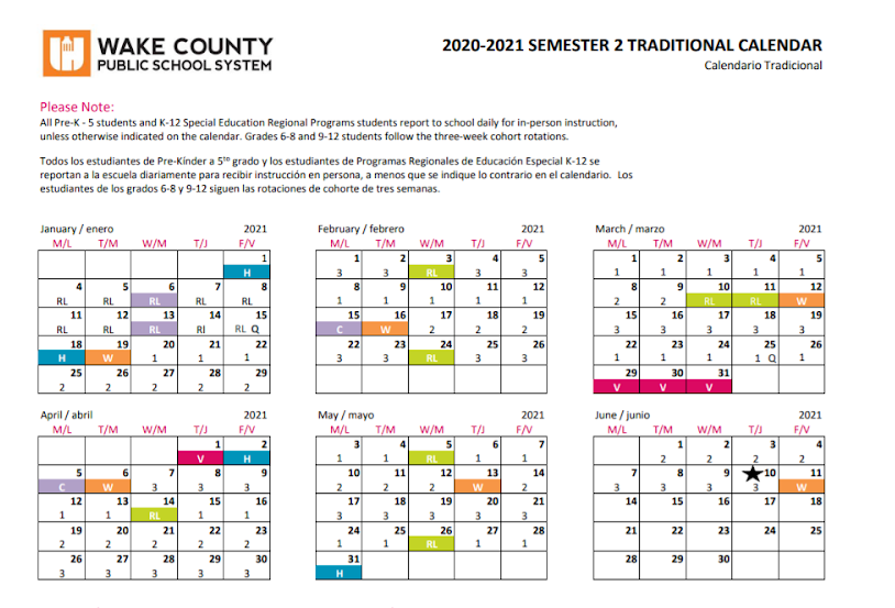 Wake County Traditional Calendar 2022.What Students Need To Know About In Person School The Mycenaean