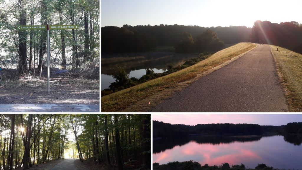 Multiple paths lead into Shelley Lake for convenient access for the local residents. Two parking lots provide entrances for people not within walking distance.
