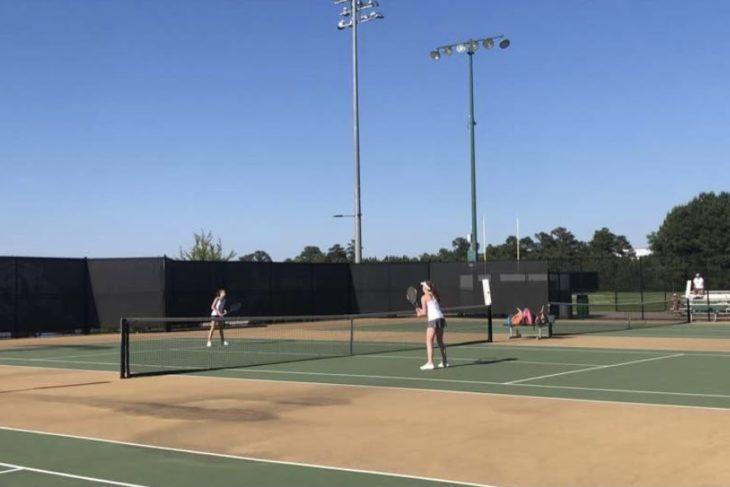 The Leesville JV Women's Tennis Family
